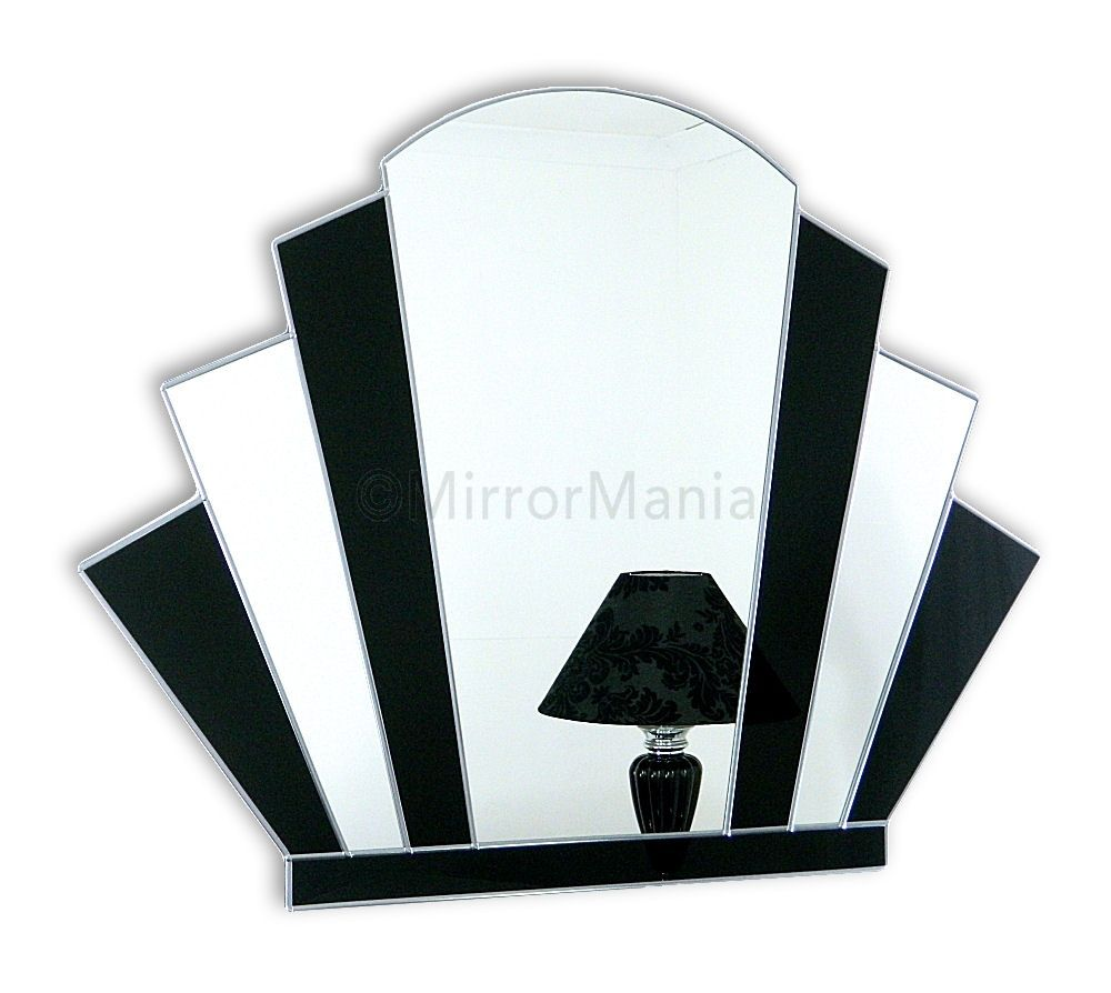 Gatsby Original Handcrafted Art Deco Fan Wall Mirror Art Deco