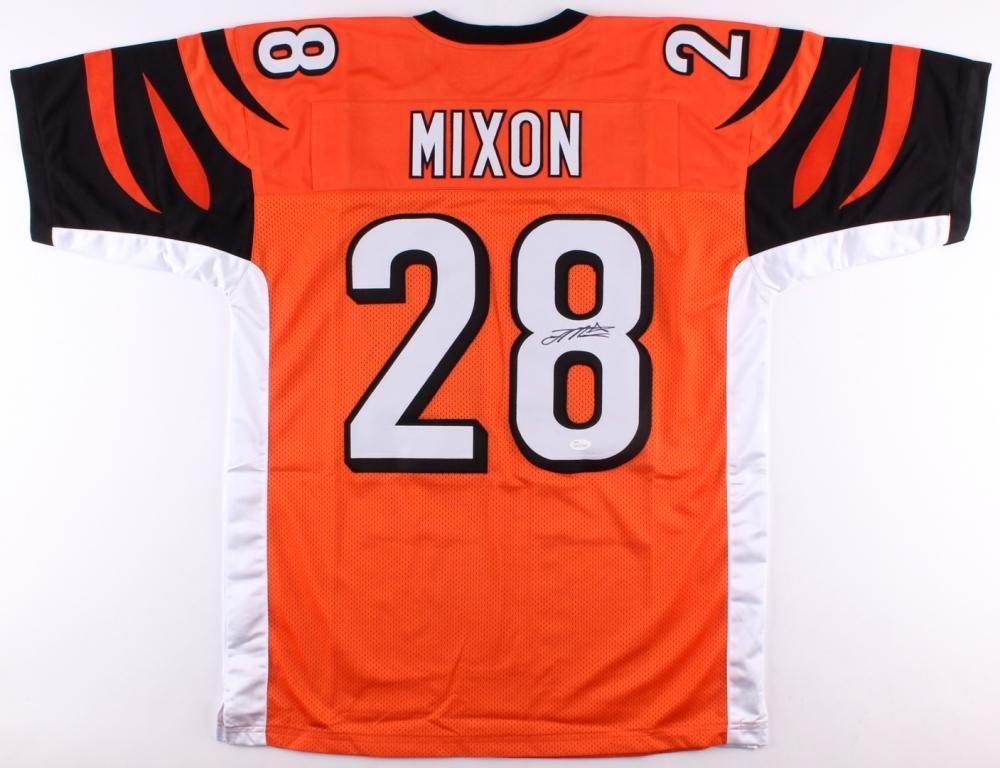 san francisco db4c3 270b0 Joe Mixon Signed Cincinnati Bengals Orange Jersey – Miller ...