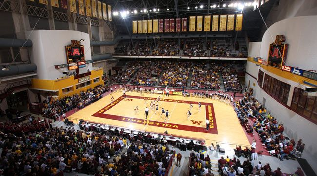 University Of Minnesota Official Athletic Site Facilities Minnesota Golden Gophers Volleyball Minnesota Gophers