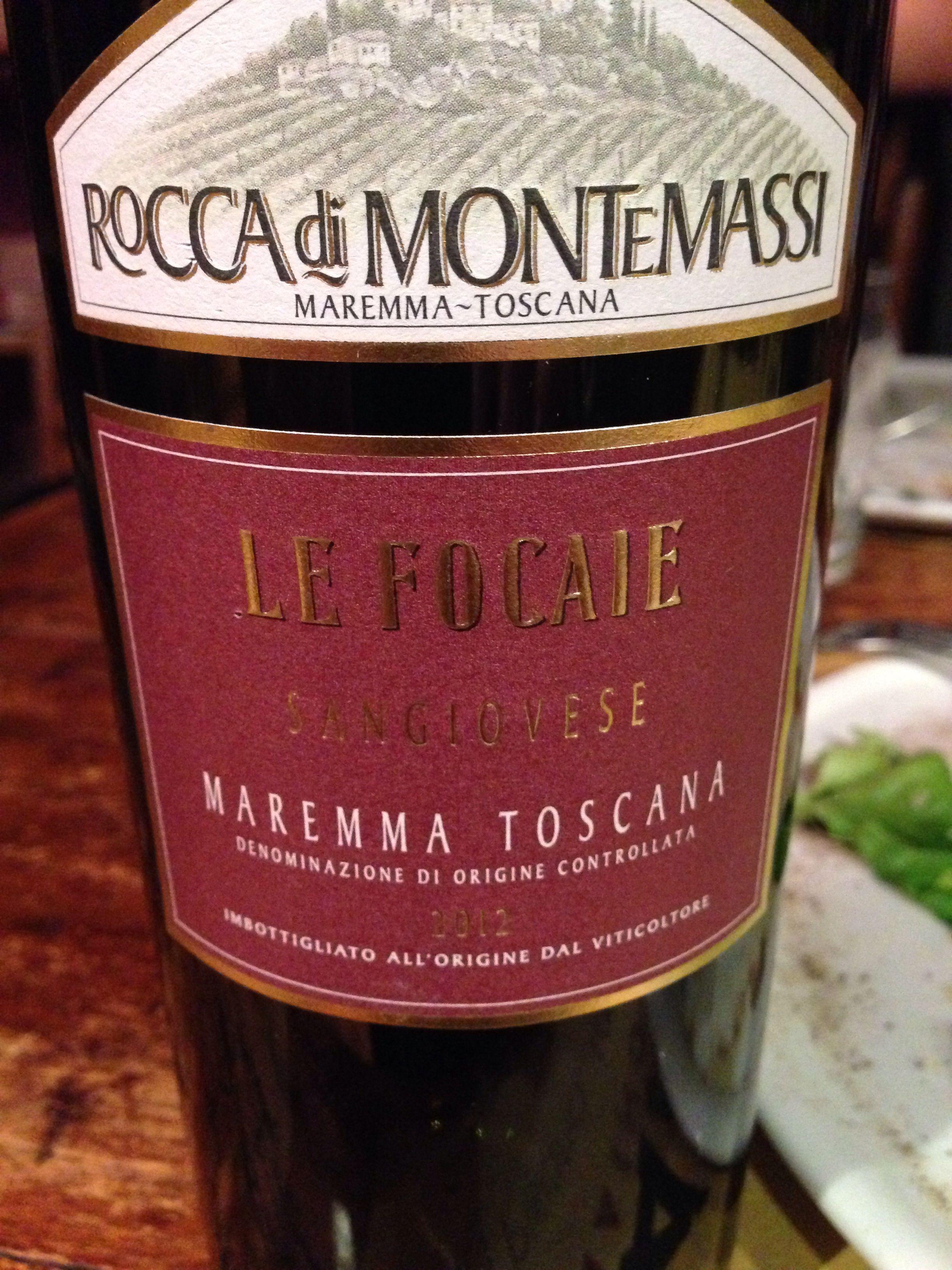 Le Focaie Sangiovese Maremma Toscana Sarap