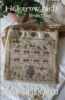 "Craft Center of Fine Stitchery: New ""Loose Feather'"" design and a Blackbird Freebie"