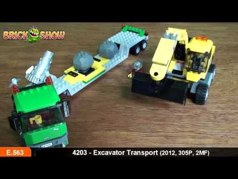 Lego City Excavator Transporter Review Set 4203 Lego En Film