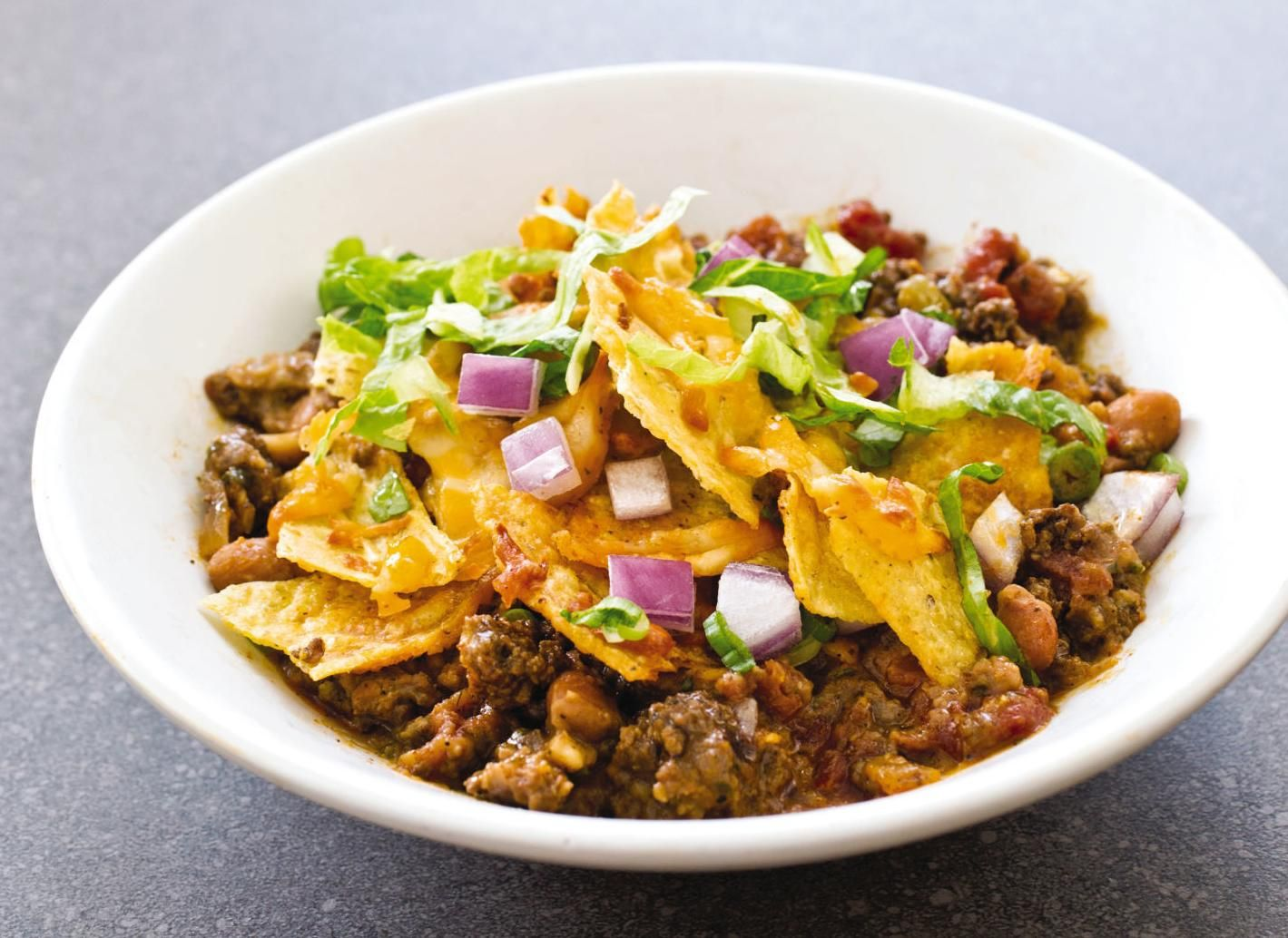 Make taco night into an easy onedish meal with a beef