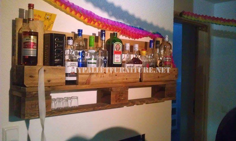 Bar+estantería+con+un+solo+palet+1 | Palets, bares, barras y ...