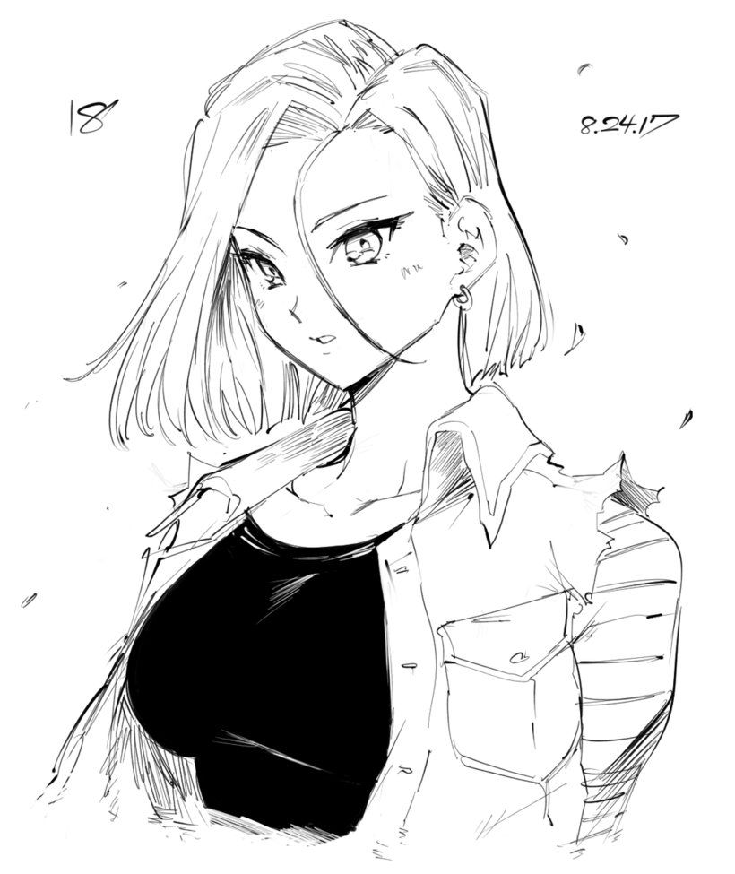 Android 18 By Lonerurouni187 Dragonball Dragon Ball Android 18
