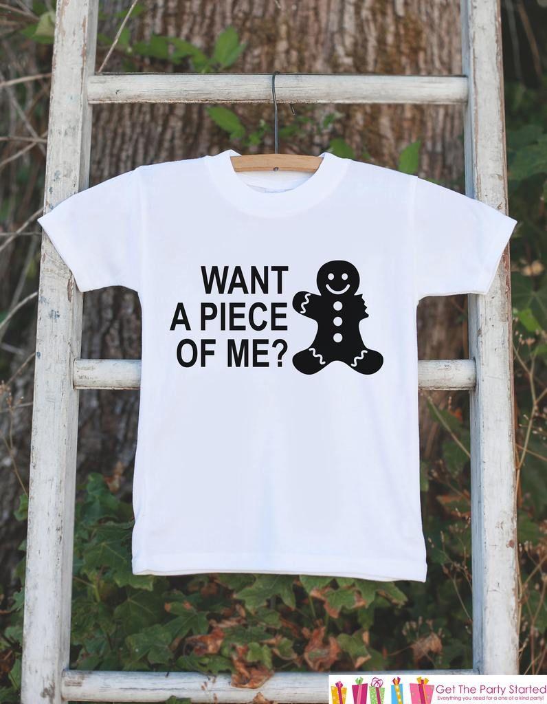 Gingerbread Man Children/'s Kids T Shirt