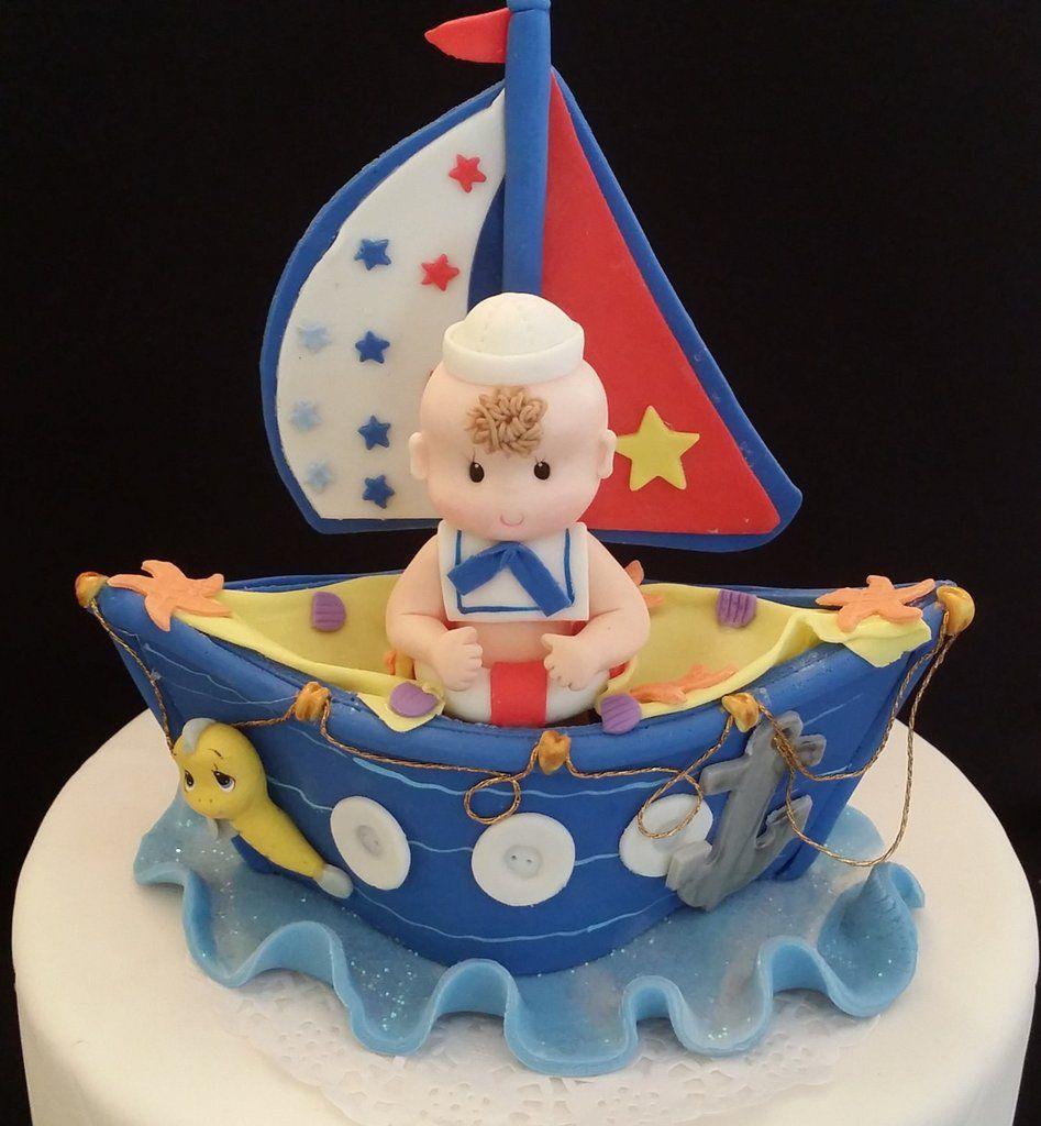 Sailor Cake Topper Baby Sailor Cake Girls Pink Nautical Sailor Baby Shower Nautical Baby Shower Nautical Birthday Nautical Cake Decor
