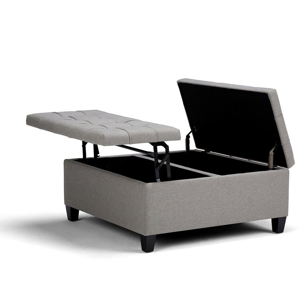 Harrison Coffee Table Storage Ottoman With Images Square