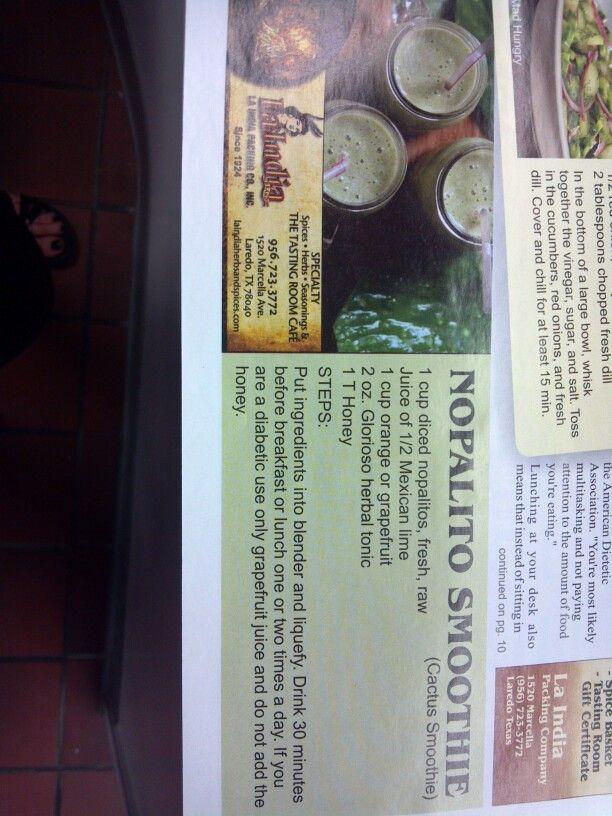 La India-Nopalito smoothie