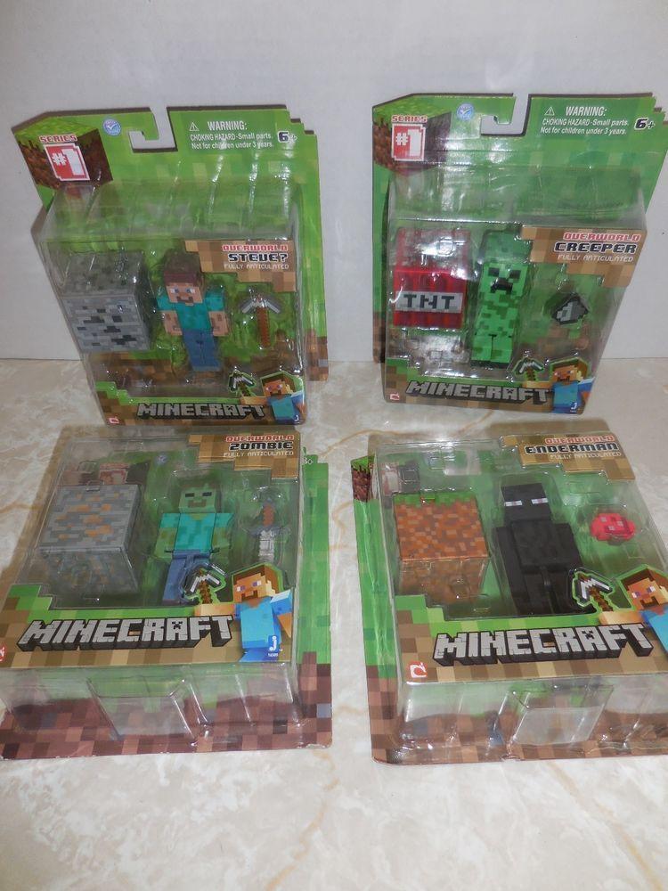 Minecraft Set of 4 Creeper Zombie Steve? Enderman