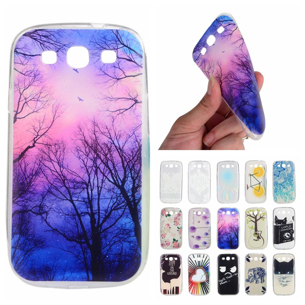 For Coque Samsung S3 Case Silicone Cute Transparent Cover for ...