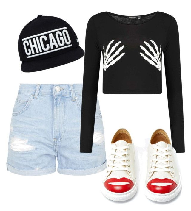 """""""Untitled #128"""" by yissel-deus-lopez on Polyvore featuring Topshop, Boohoo and Charlotte Olympia"""