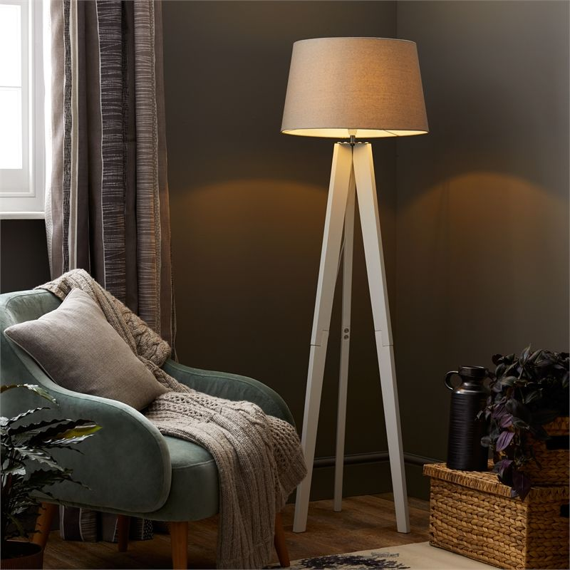 Find Poppy White Tripod Floor Lamp At Homebase Visit Your