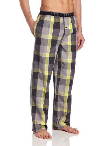 Alion Men Plaid Comfortable Cotton Sleep Lounge Pajama Shorts