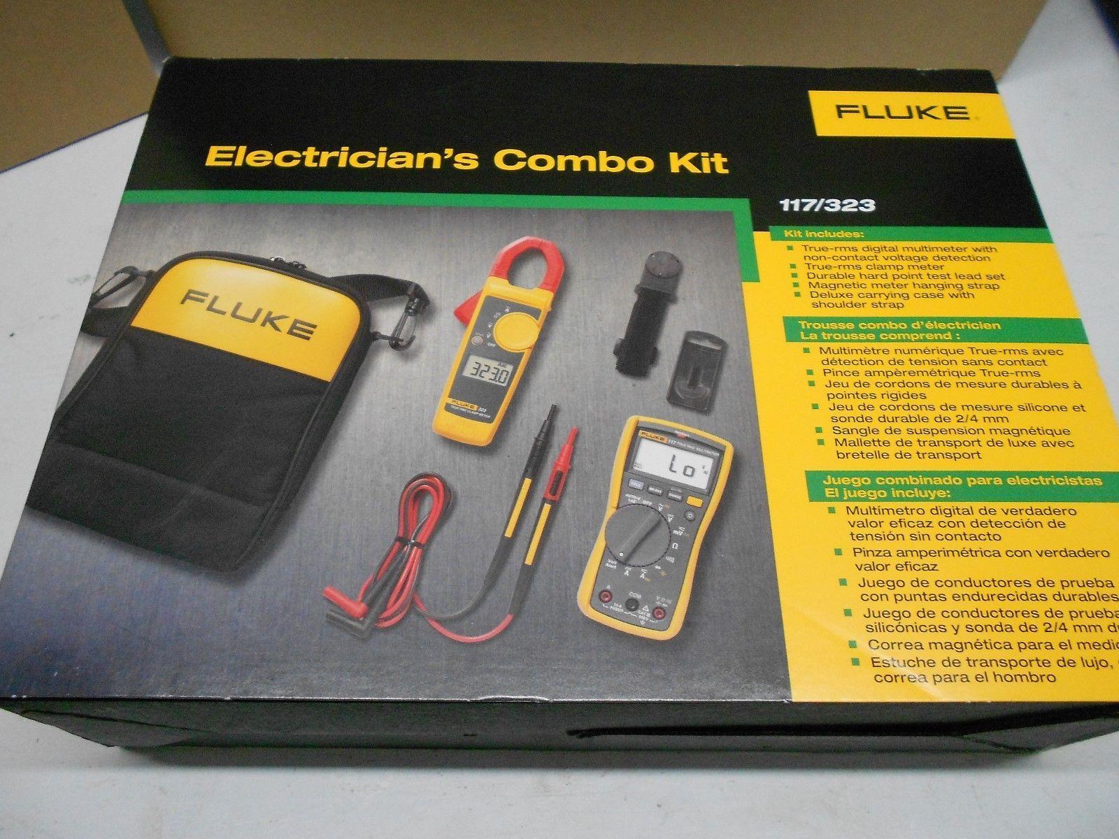 Brand New Fluke 117 323 Electricians Multimeter Combo Kit Fluke117 Combo Kit Multimeter Kit