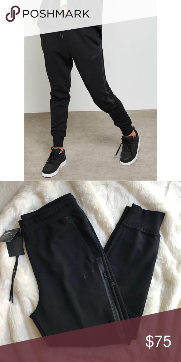 498fcb4a11fc Nike Black Tech Fleece OG Pants •Nike Tech Fleece Pant OG. Slim cut sweats  have a tapered fit with a slightly dropped crotch for a sleek