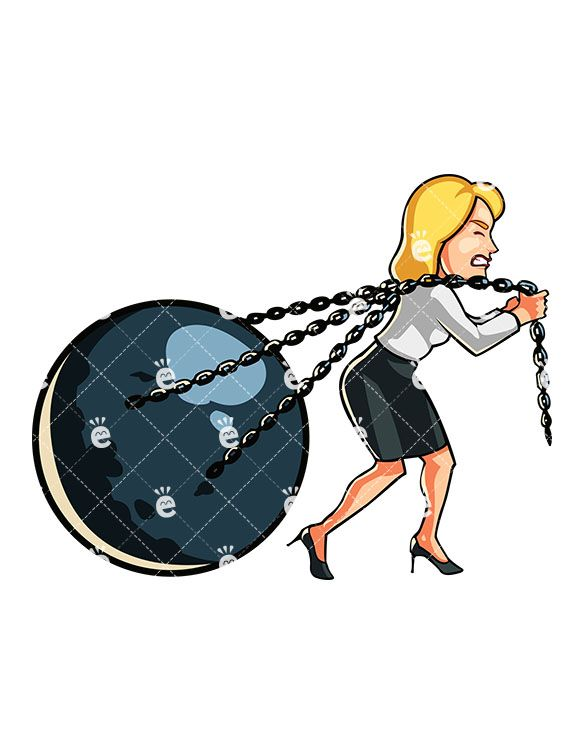 Pulling The Chain Custom A Businesswoman Pulling A Huge Ball On Chains  Friendlystock Review