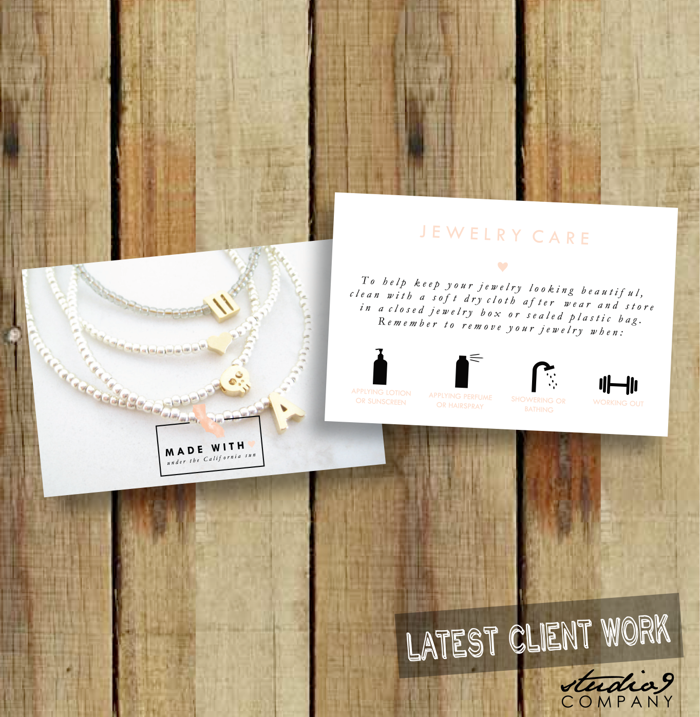 Jewelry care cards designed by studio 9 co luni business jewelry care cards designed by studio 9 co magicingreecefo Images