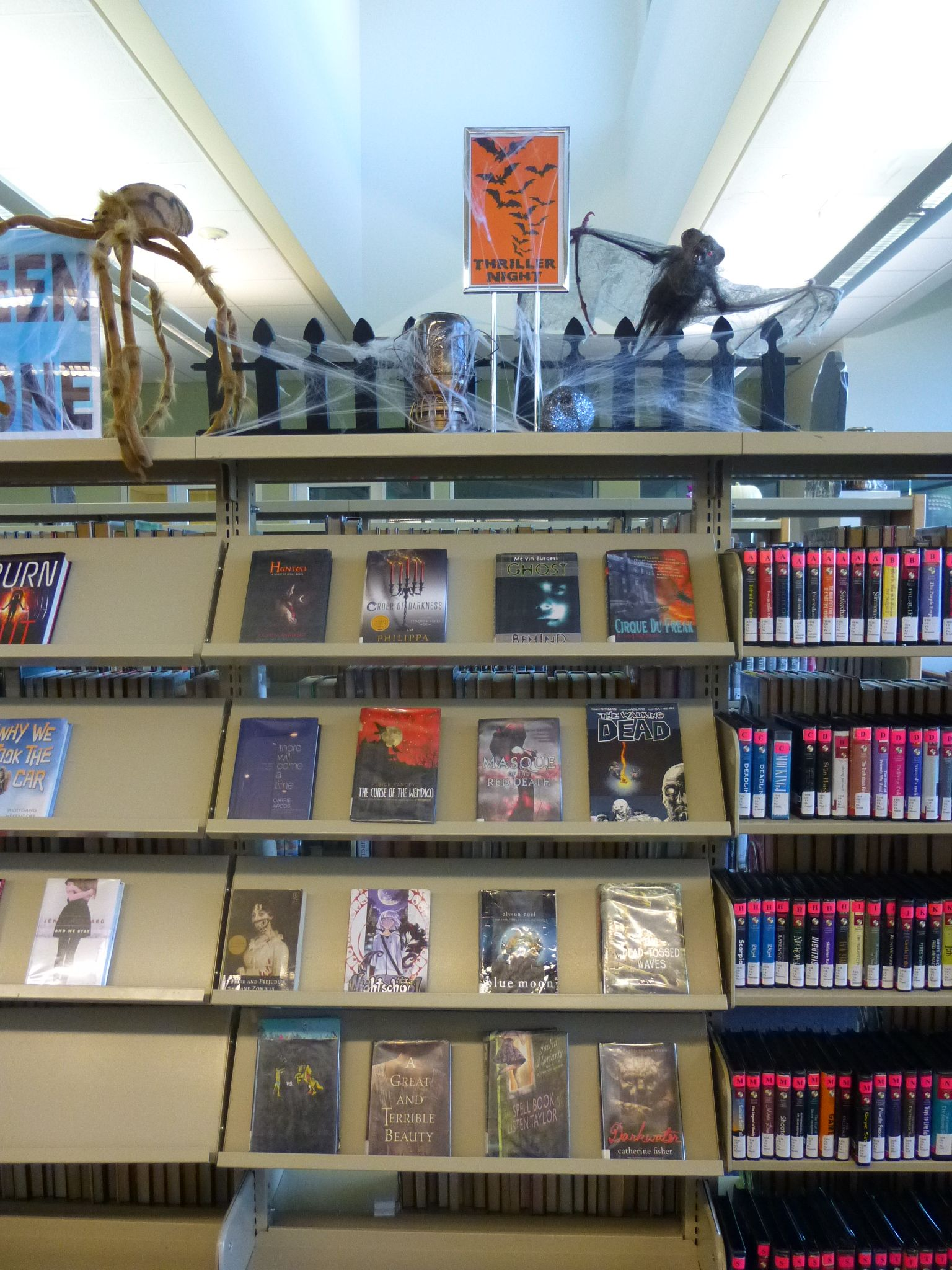Halloween 2014 book display at the Temecula Public Library Teen Zone.