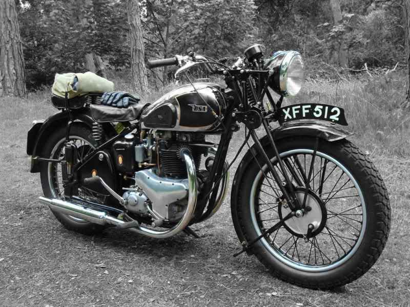 Bsa A7 Star Twin 1949 500cc Twin Classic Motorcycles Bsa Motorcycle Old Bikes