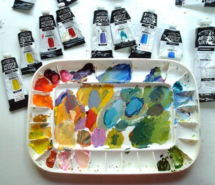 How To Keep Acrylic Paints From Drying Out On Your Palette Via Emptyeasel Acrylic Painting Acrylic Art Painting Tutorial