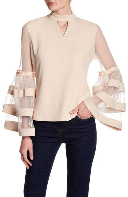 6f5bd4a1b32 Why Dress Sleeved See-Through Puff Detail Top  39.97 http   shopstyle.