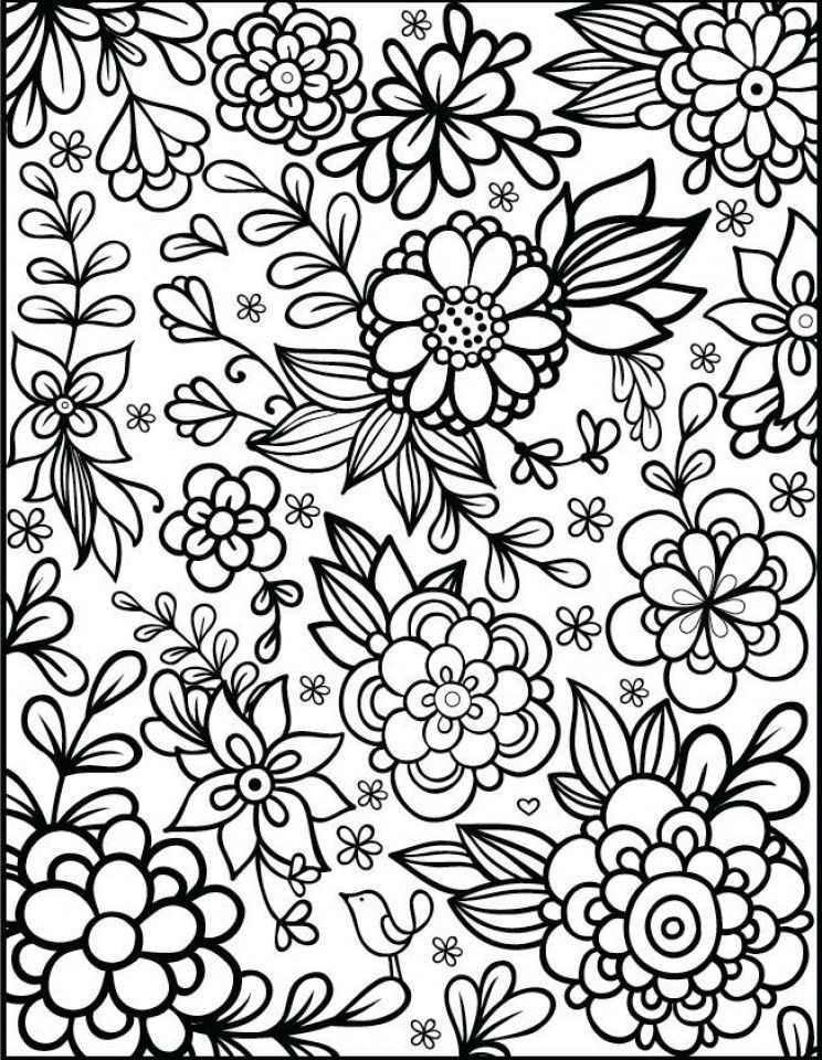 Coloring.rocks! Printable Flower Coloring Pages, Detailed Coloring Pages,  Flower Coloring Sheets