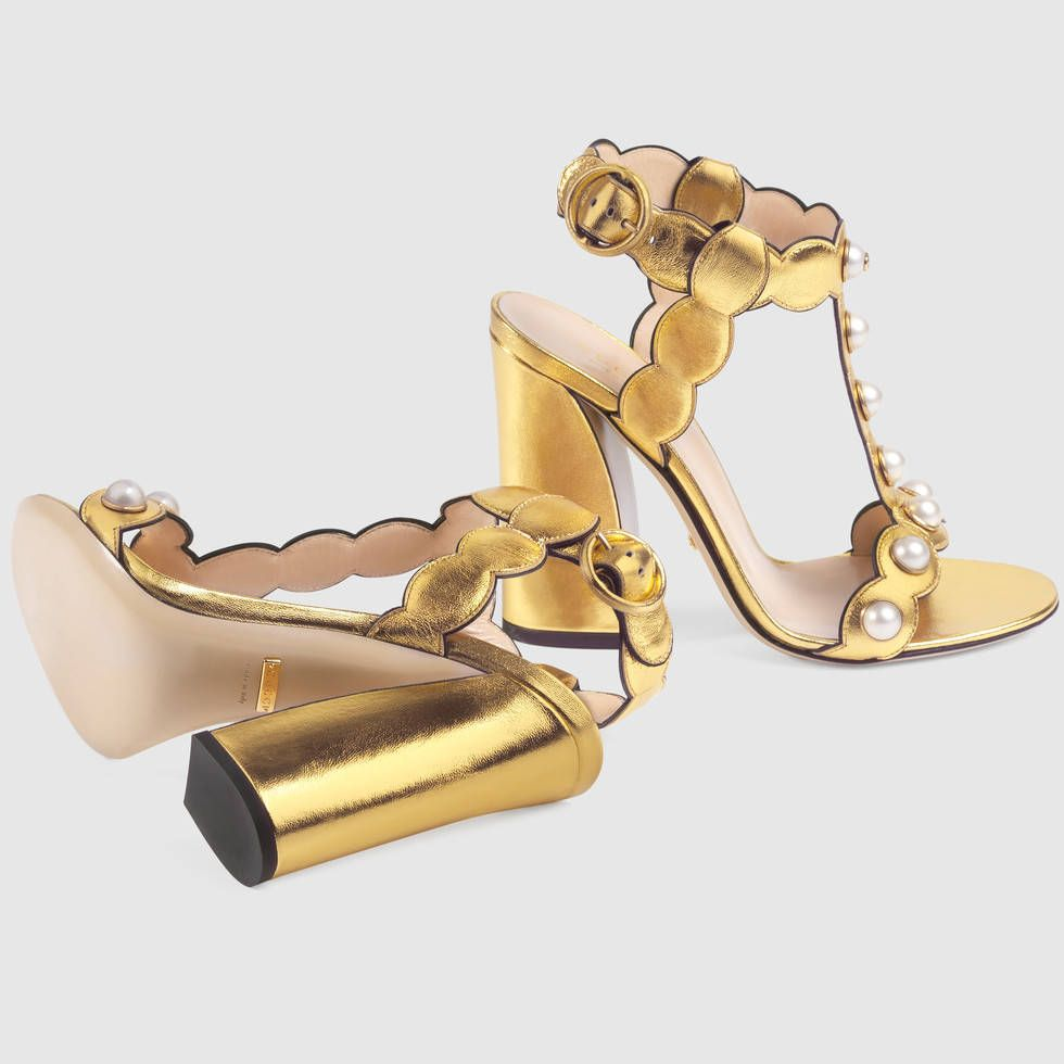 74f594b14 Gucci Willow Gold leather t-strap sandals $1,100.00 | ***GUCCI ...