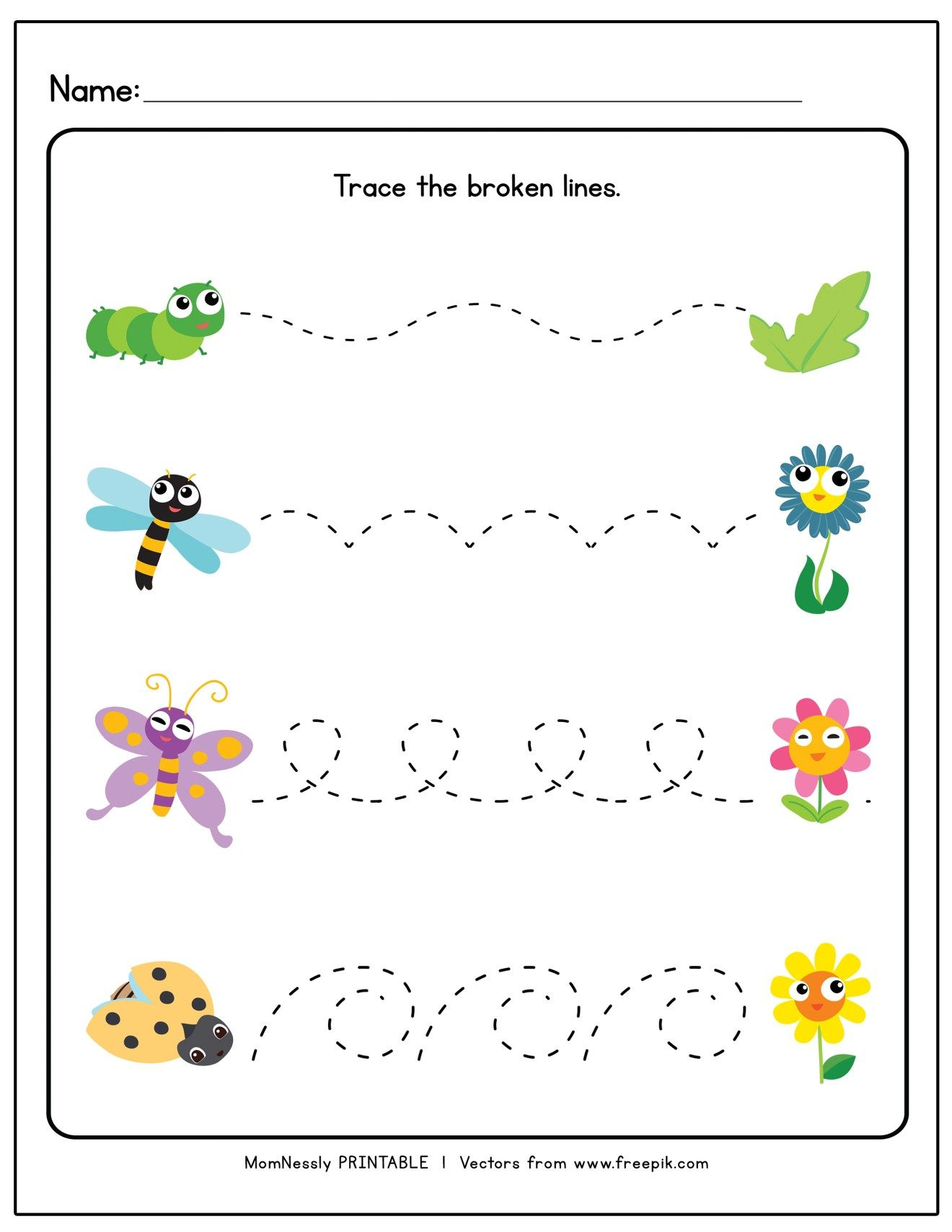 Printable Tracing Lines Worksheets In