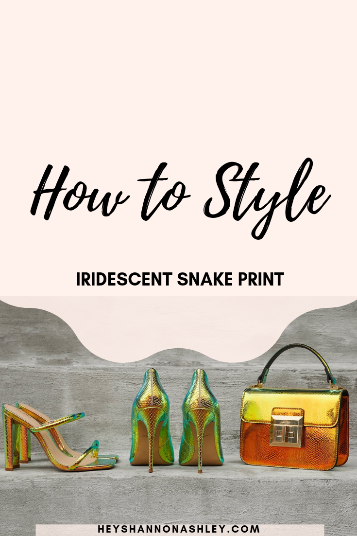 How to Style: Iridescent Snake Print #snakeprintbootsoutfit