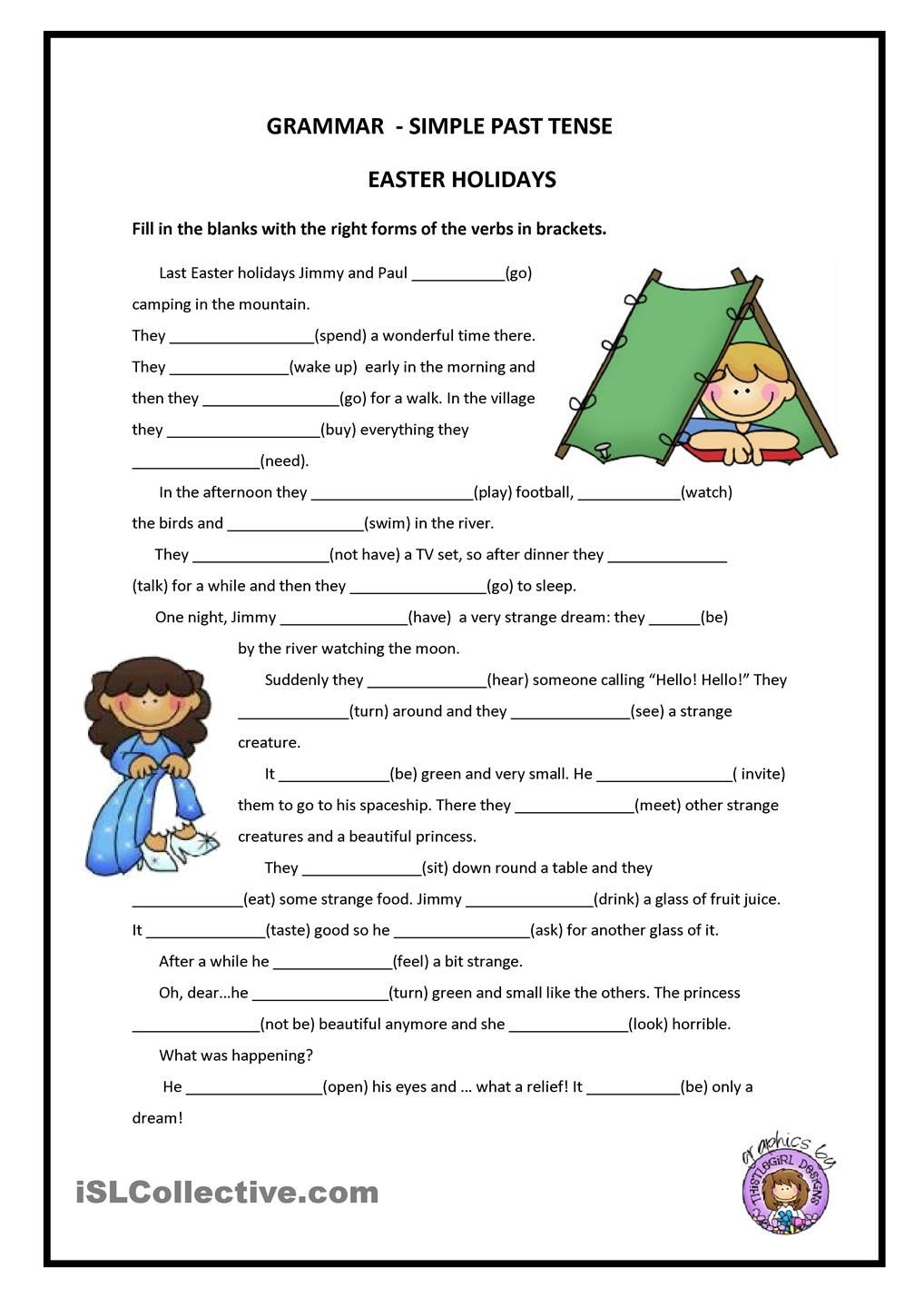 PAST SIMPLE FREE ESL worksheets Repinned by Chesapeake