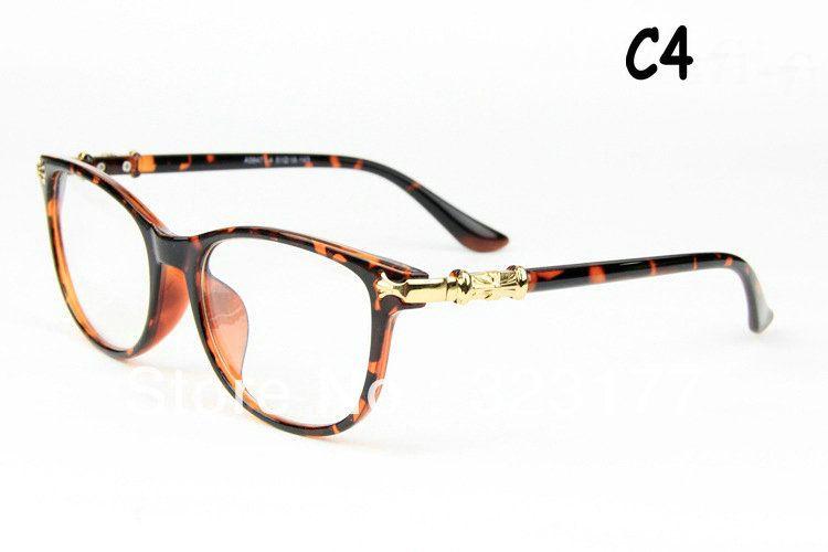 e2bf2fd878a Man Woman Optical Frames Plain Mirror Retro Anteojos Oculos Eye Glasses  Lentes Gafas Armazones Lunettes