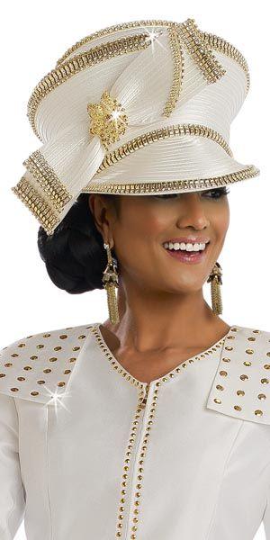 df2c7a7c522 Donna Vinci hat 11522 spring 2017 Off white womens church hat ...