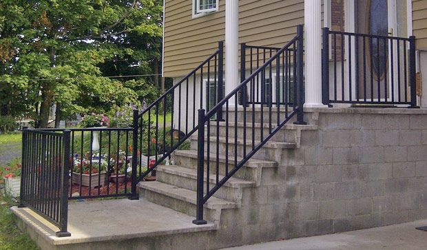 Metal Handrails For Porch Steps Railings Repair Replacements