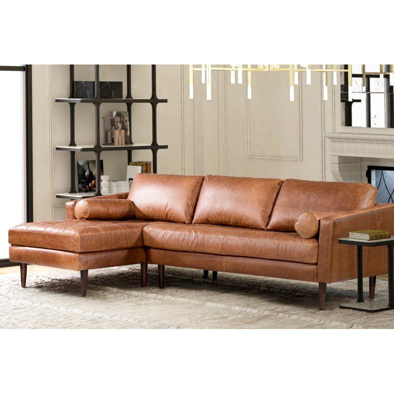 Kate Leather 104 5 Sectional Leather Sectional Sectional Sofa