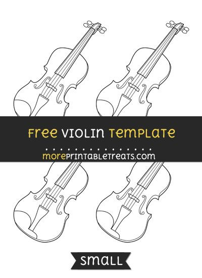 free violin template small shapes and templates printables