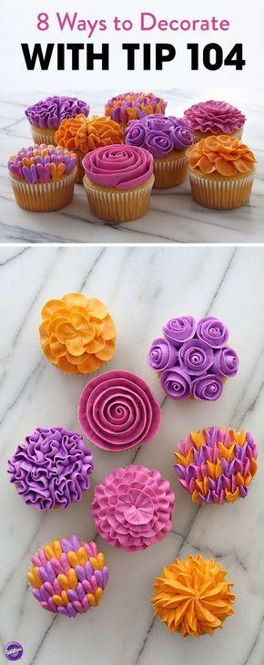 Flower Gallery Cupcakes #cupcakefrostingtips