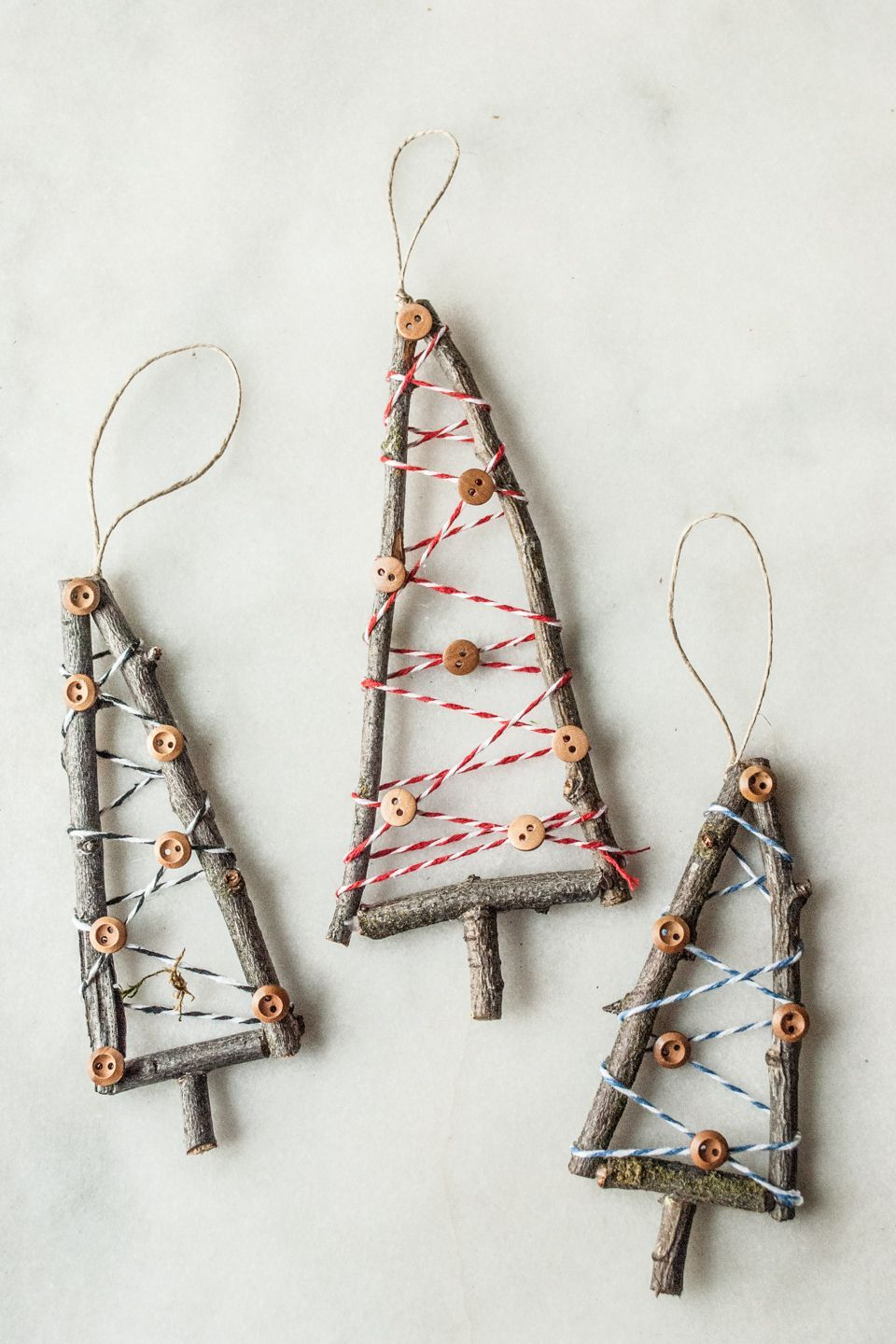 Rustic Little Tree Ornament Handmade Christmas Series Cottage Chronicles Handmade Christmas Ornaments Handmade Christmas Tree Stick Christmas Tree