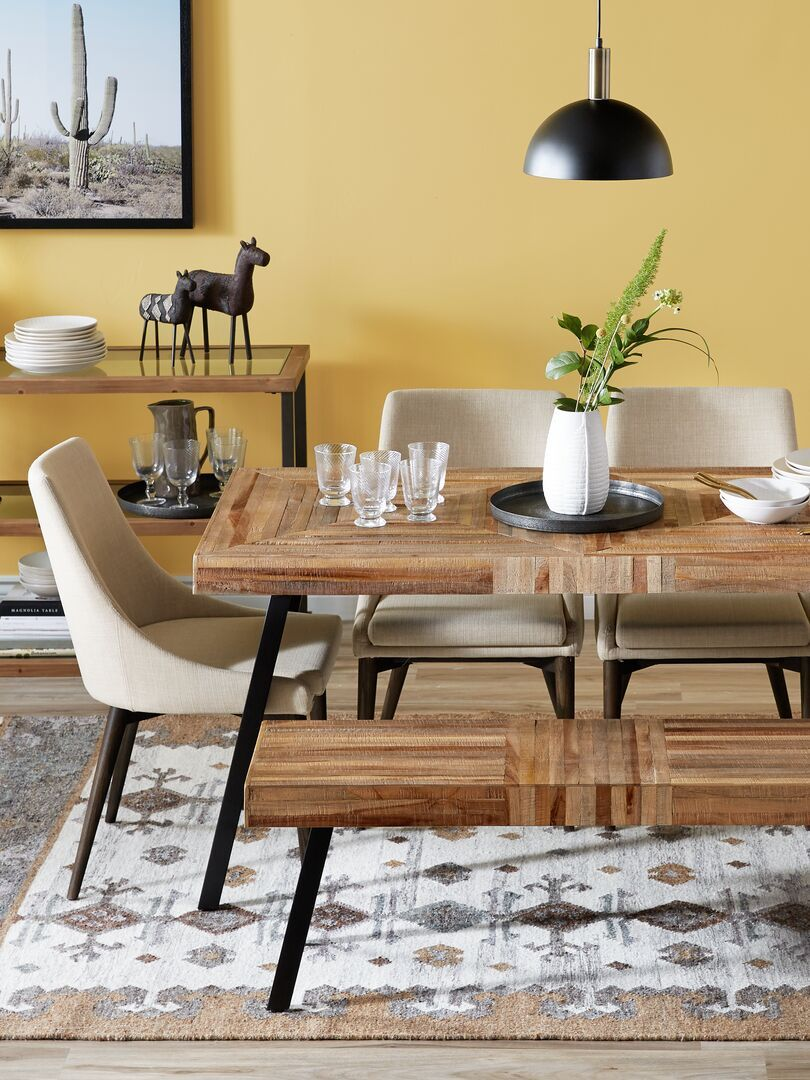 Pin By Structube On Style Urban Revival Dining Table In Living Room Teak Dining Table Dining Table [ 1080 x 810 Pixel ]