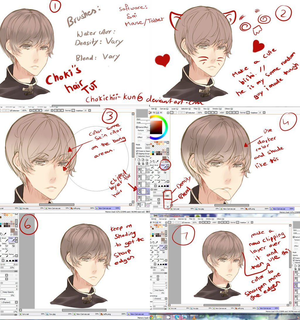 Anime Hair Tutorial By Chokichii Kun Deviantart Com On Deviantart Anime Hair Anime Anime Art Beautiful