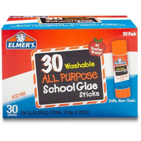 Elmer S All Purpose School Glue Sticks Washable 7g 30 Count Walmart Com In 2020 School Glue Elmers Glue Stick Glue Sticks