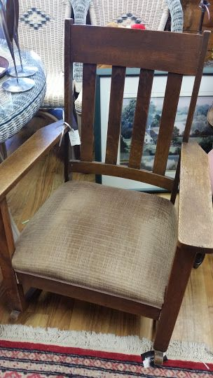 Lovely Old Fashioned Rocking Chair, Perfect For A TV Room Or The #cottage  #collingwood #vintage #oldschool #comfy