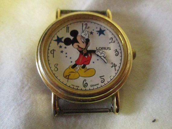 Vintage Lorus Mickey Mouse Watch Face Hong Kong By Hankiepanky Lorus Mickey Mouse Watch Mickey Mouse Vintage Mickey Mouse