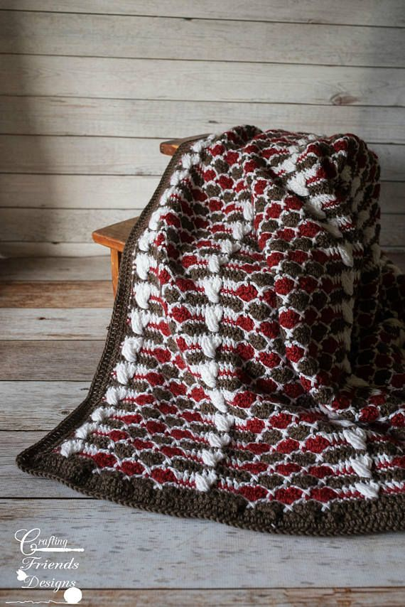 Queen of Hearts Afghan Crochet Pattern, Warm, Comforting, Home ...