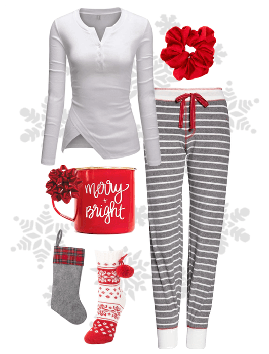 Christmas Morning Pajamas Outfit ShopLook in 2020