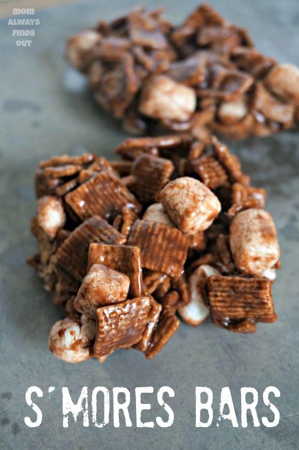 Smores Bars Recipe with Golden Grahams | No bake desserts, Bar and ...