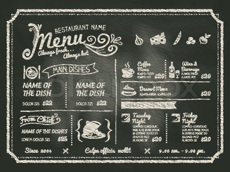 blackboard coffee menu cerca con google