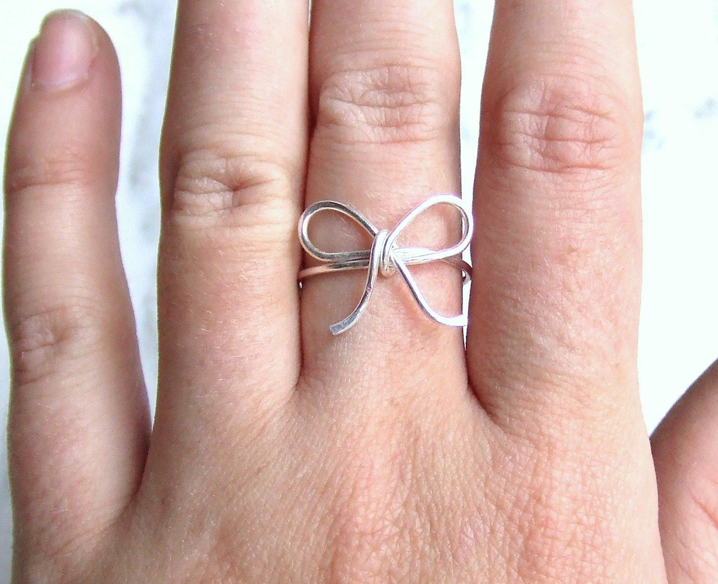 Tie the Knot Ring Bow Ring Brides Gift by deannewatsonjewelry, $9.95 ...