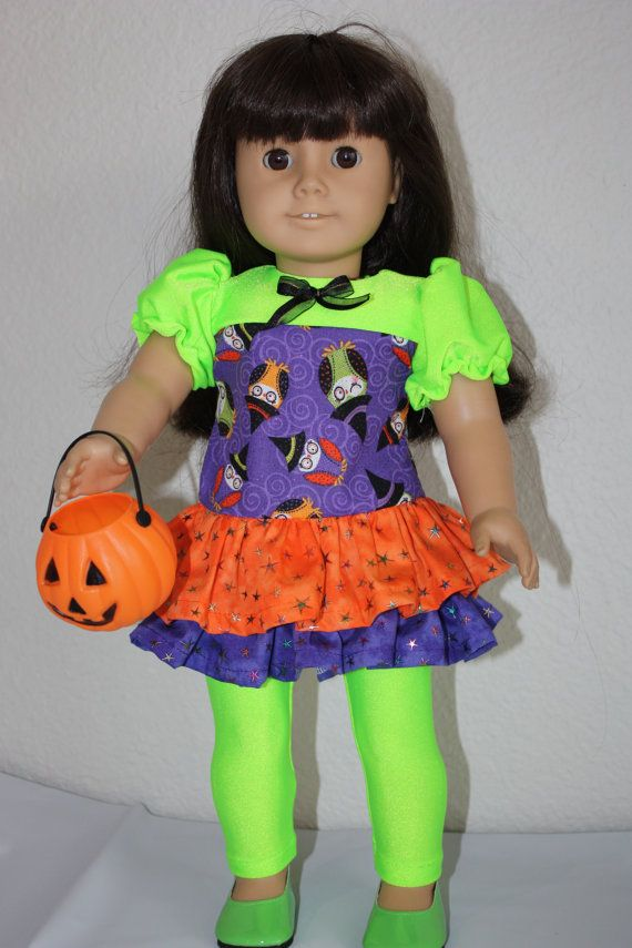 I Bought This Outfit It Looks Amazing On: 18 Inch Doll Halloween Tunic And Tights By