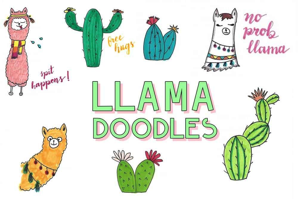 Llama Doodles 9 Adorable Alpaca Inspired Doodles For Bullet